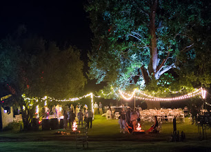 Photo: Fairy lights & dancefloor for a starry night setup under the Oak
