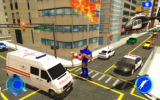 Grand Iron Superhero Flying - City Rescue Mission download 2