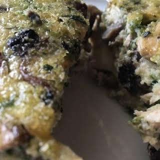 Crustless Mushroom and Chicken Quiche.