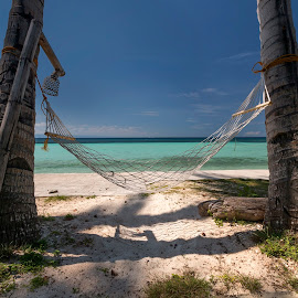 The Hammock by Geoffrey Wols - Artistic Objects Other Objects ( sand, beach, tree, vacation, palms, philippines, water, holiday, hammock,  )