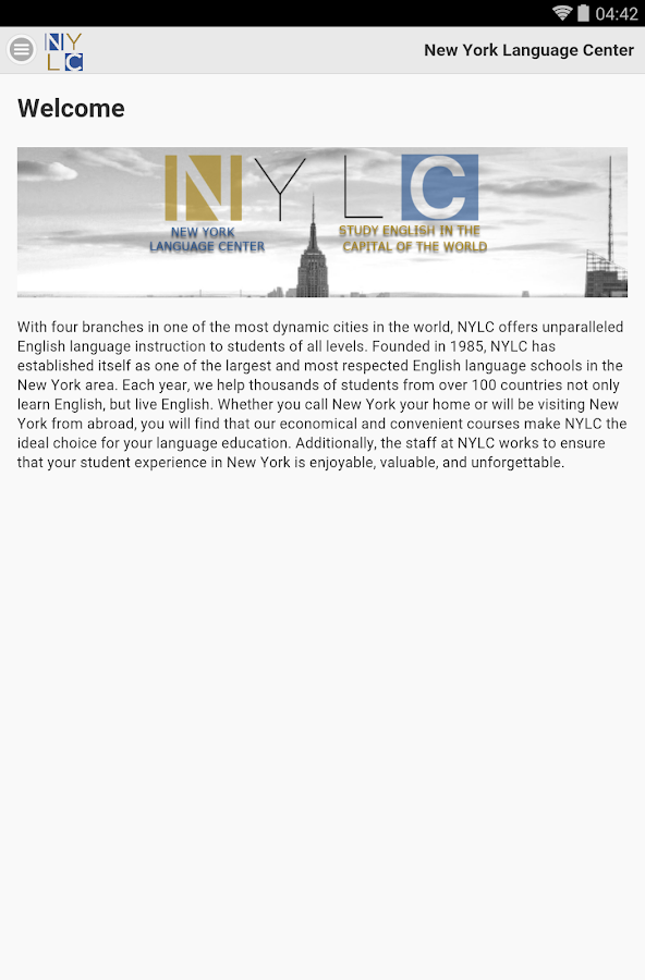 New York Language Center- screenshot