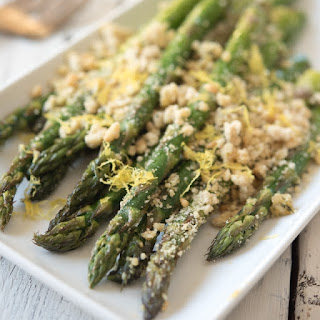 Roasted Asparagus with (Paleo) Breadcrumbs