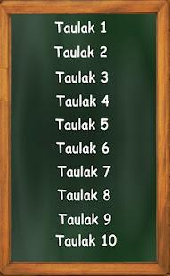 Biderkatzeko taula 9