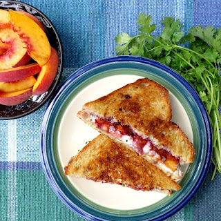 Blackberry Peach Grilled Goat Cheese Sandwich Recipe