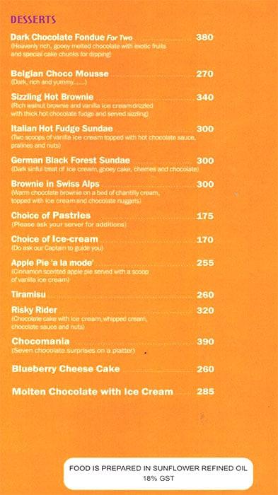 Relish - International Veg Cuisine menu 3
