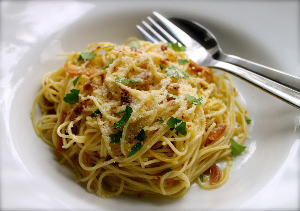 Capellini With Olive Oil, Garlic And Anchovies Recipe