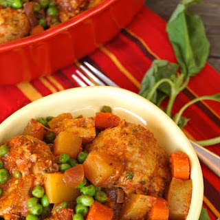 Stove-Top Spiced Turkey Meatball Stew