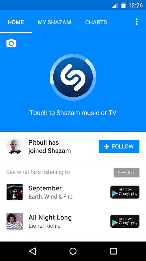 Shazam- screenshot