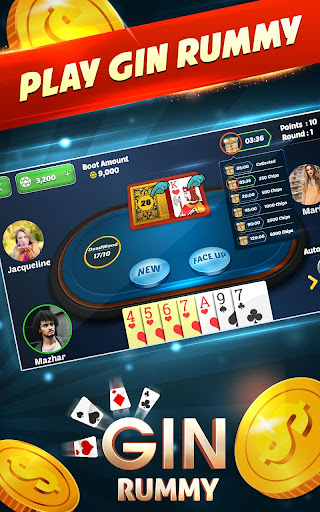 Gin Rummy Free - Best 2 Player Card Games  captures d'écran 1