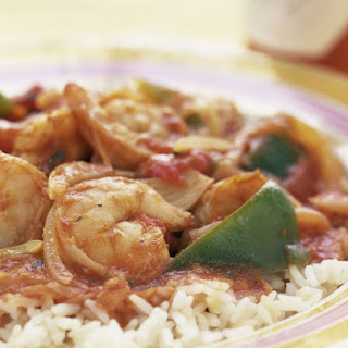 Spiced Creole Shrimp with Tomatoes.