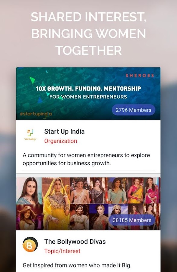 SHEROES Women's Growth Network- screenshot