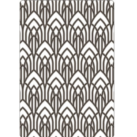 Tim Holtz Sizzix Multi-Level Texture Fades Embossing Folder - Arched