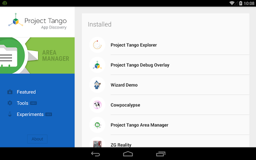 Project Tango App Discovery