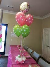 Photo: special arrangement with balloon bouquet