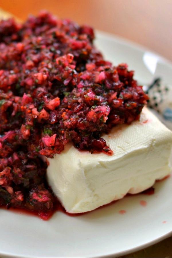Five Minute Festive Cranberry Salsa Recipe