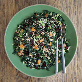 Brussels Sprout, Beluga Lentil, and Cranberry Holiday Salad.