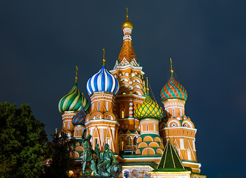 Moscow at night by Zdenka Rosecka - Buildings & Architecture Places of Worship (  )