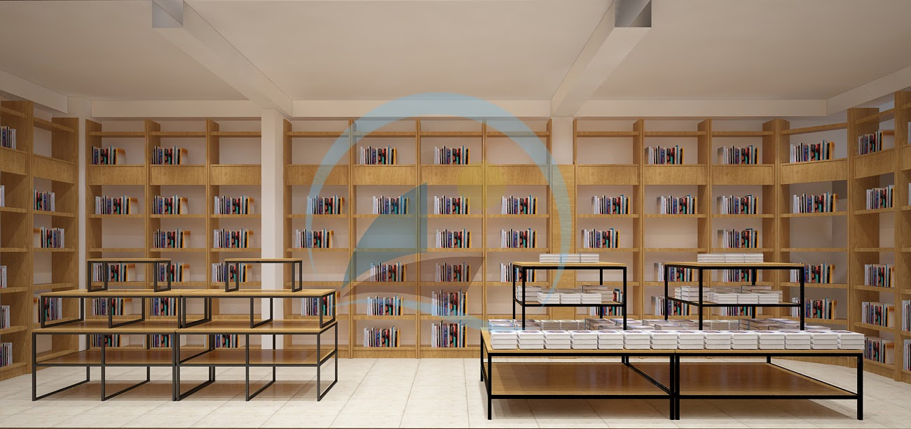 thiết kế nội thất nhà sách Trí Đức 12
