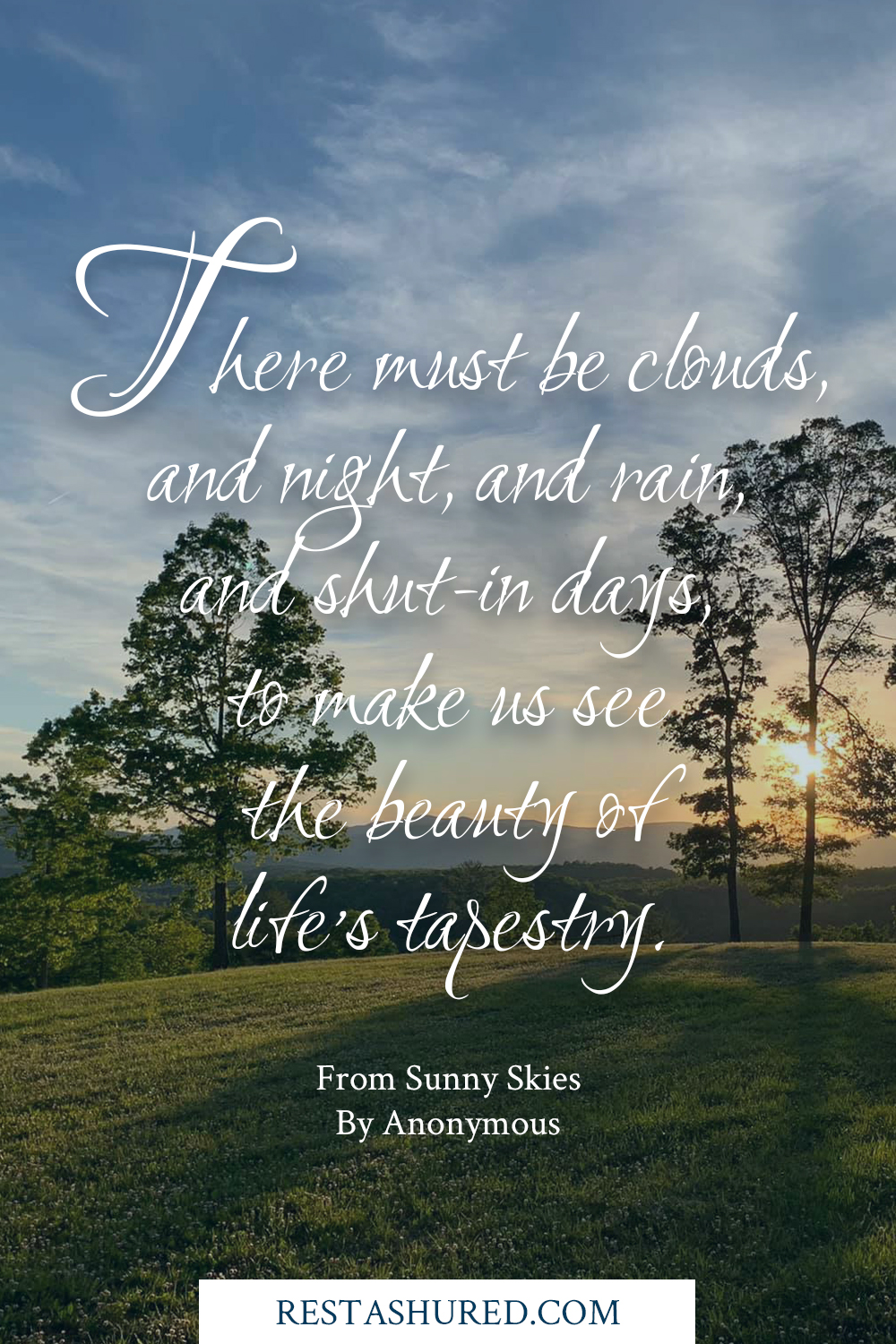 Sunny Skies poem for a cremation funeral