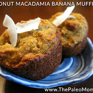 Coconut Macadamia Banana Muffins