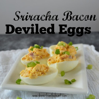Sriracha Bacon Deviled Eggs