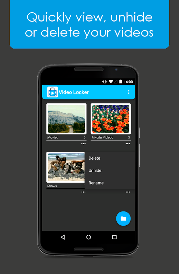 Video Locker - Hide Videos - screenshot