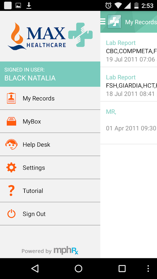 MyHealth Max Healthcare- screenshot