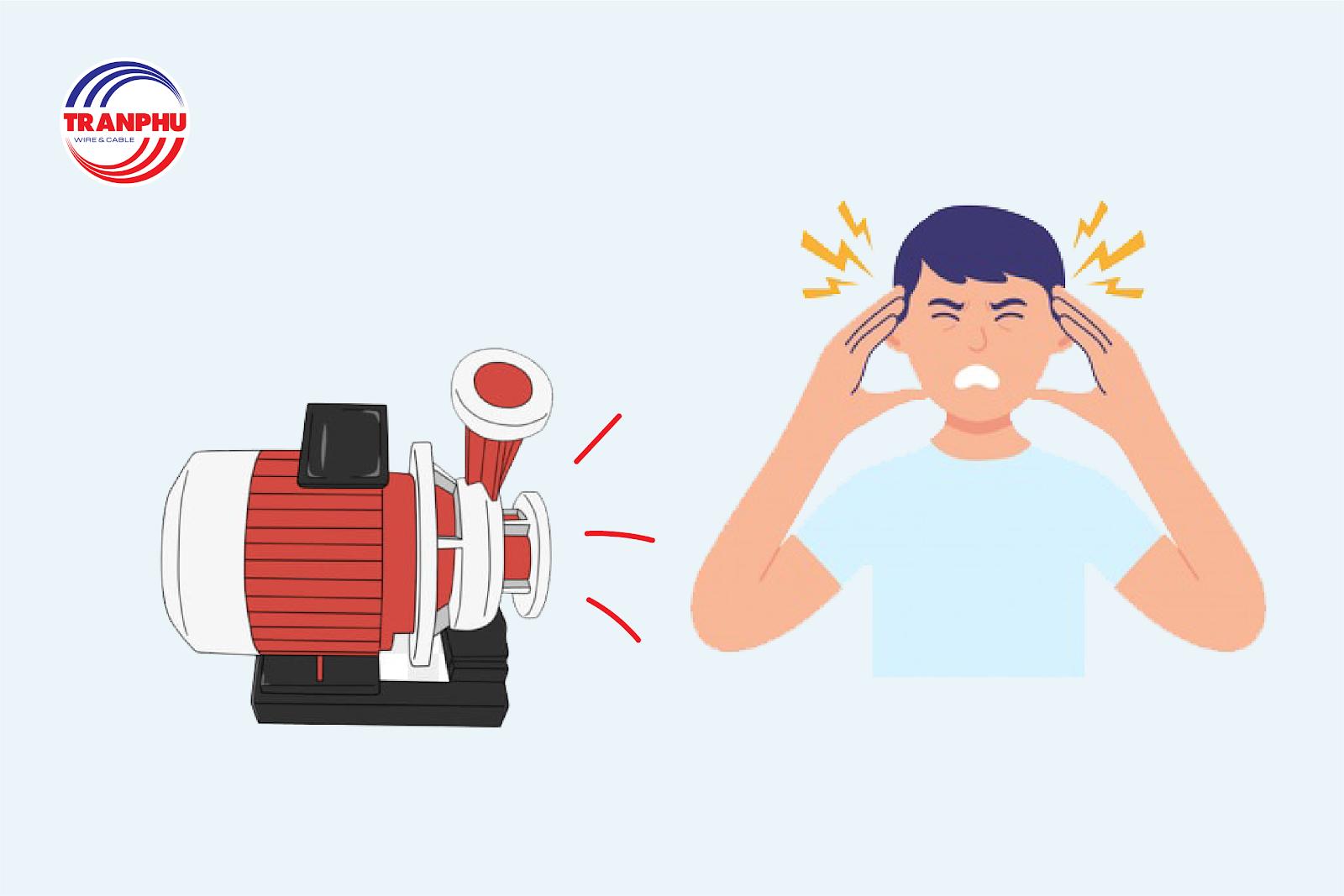 Máy bơm hoạt động khi điện yếu thường rất ồn