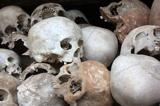 Photo: Year 2 Day 35 - Skulls in the Memorial Stupa in Choeung Ek (Killing Field) (Cambodia)