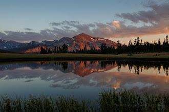 Photo: Calm sunset reflection