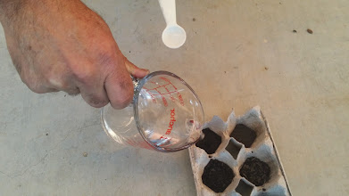 Photo: Phil Small demonstrates a test for ash content. Adding a bit of vinegar will cause carbonates in ash to bubble and fizz.