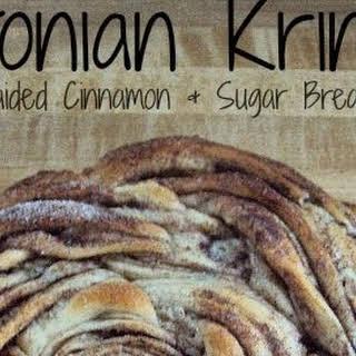 Estonian Kringle - Braided Cinnamon & Sugar Bread.
