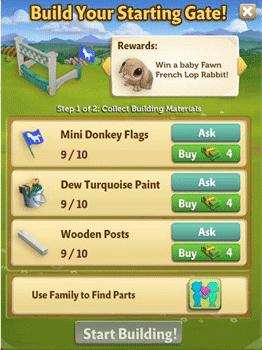 Farmville 2 mini donkey races building requirement