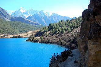 Photo: NEPAL-Beautiful view of the Turquoise Phoksundo lake