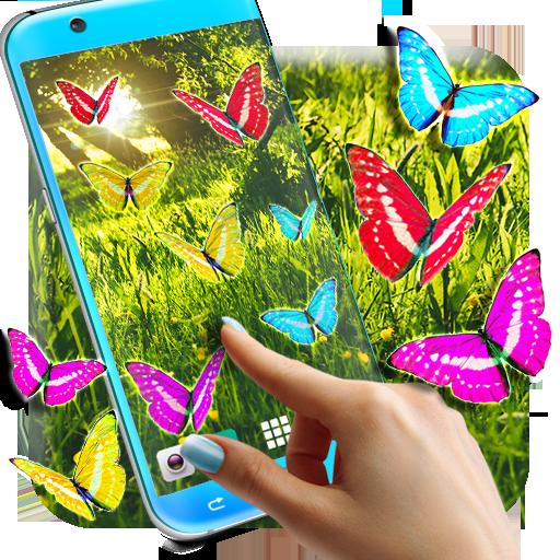 Butterflies Forest Wallpaper
