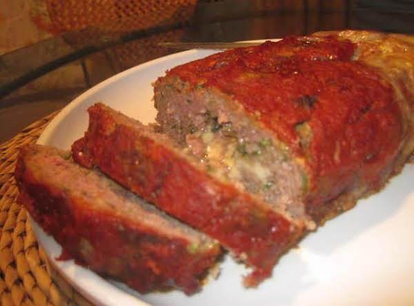 Zucchini And Cheese Stuffed Meatloaf