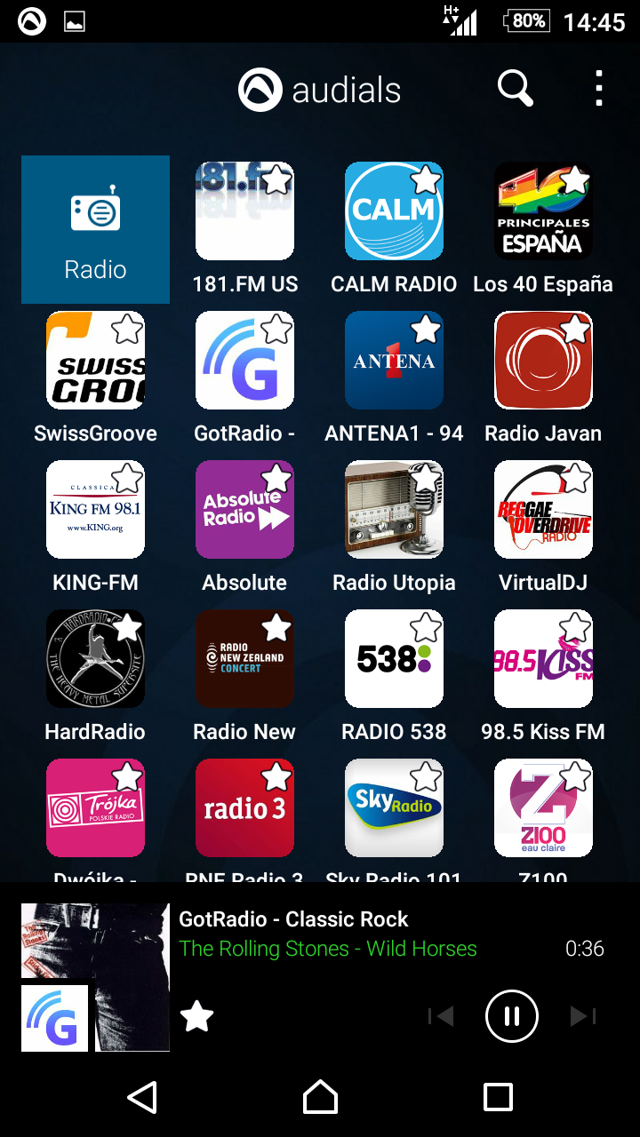 Audials Radio Pro Screenshot 1