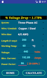 Cec wire size calculator free apps on google play screenshot image greentooth Images