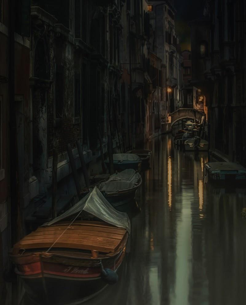 La notte tra le calli.... di Elebrusco