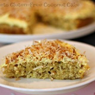 Keto Gluten-Free Coconut Cake.