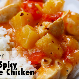 Spicy Pineapple Chicken.