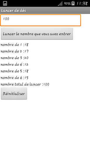 Lancer alu00e9atoire de du00e9s 1.0 screenshots 1