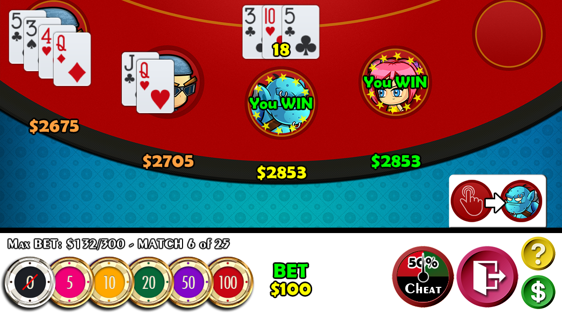 Cheaters Blackjack 21- screenshot
