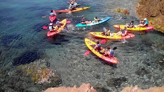 El kayak es la actividad estrella.
