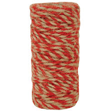 Kaisercraft Lucky Dip Jute Cord - Double-Colour Red