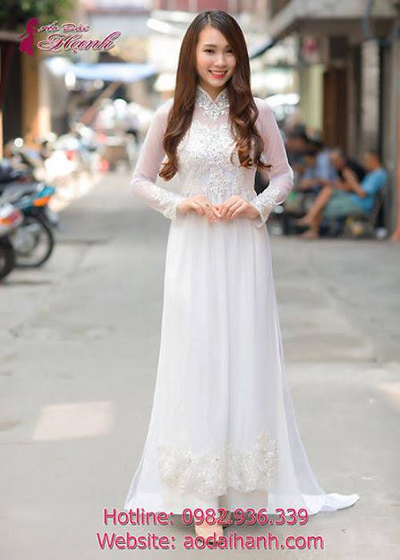 áo dài cưới tay lửng