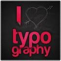 Ideas de diseño de tipografía icon
