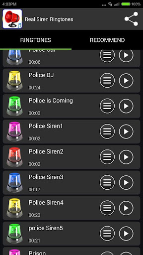 Real Siren Ringtones 1.2 screenshots 4