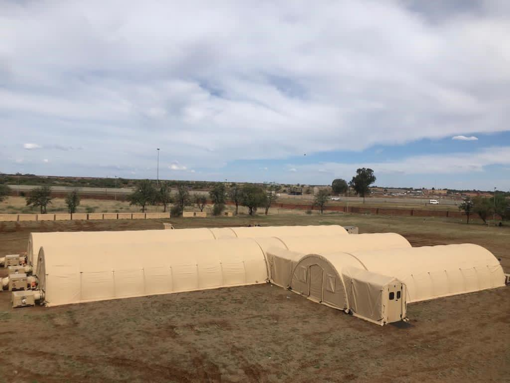 40-bed mobile field hospital from Alaska Structures donated to South Africa.