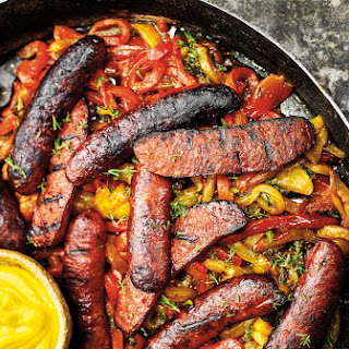 Smoked And Grilled Chorizo With Saffron Aioli.